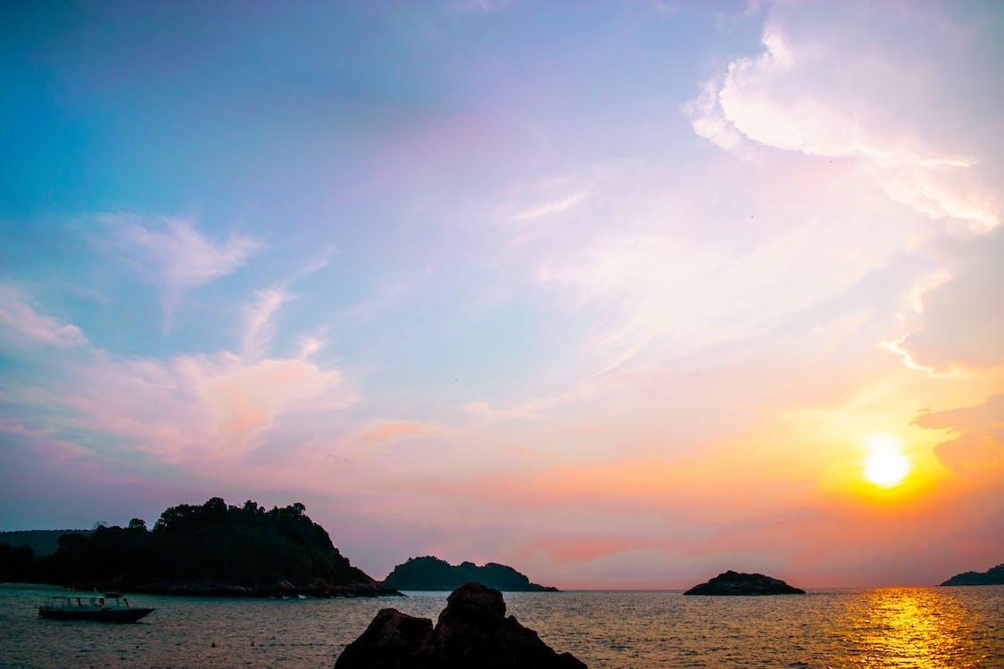 hav, himmel, morgengry