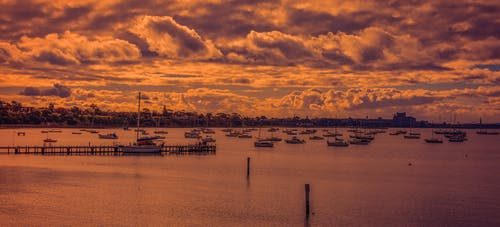 Základová fotografie zdarma na téma město, moře, mraky, obloha