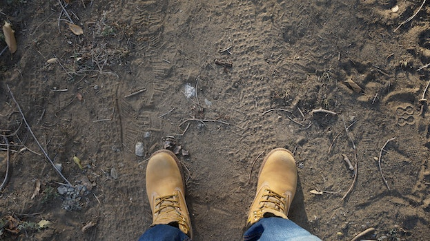 Free stock photo of hiker, hiking, shoes, standing