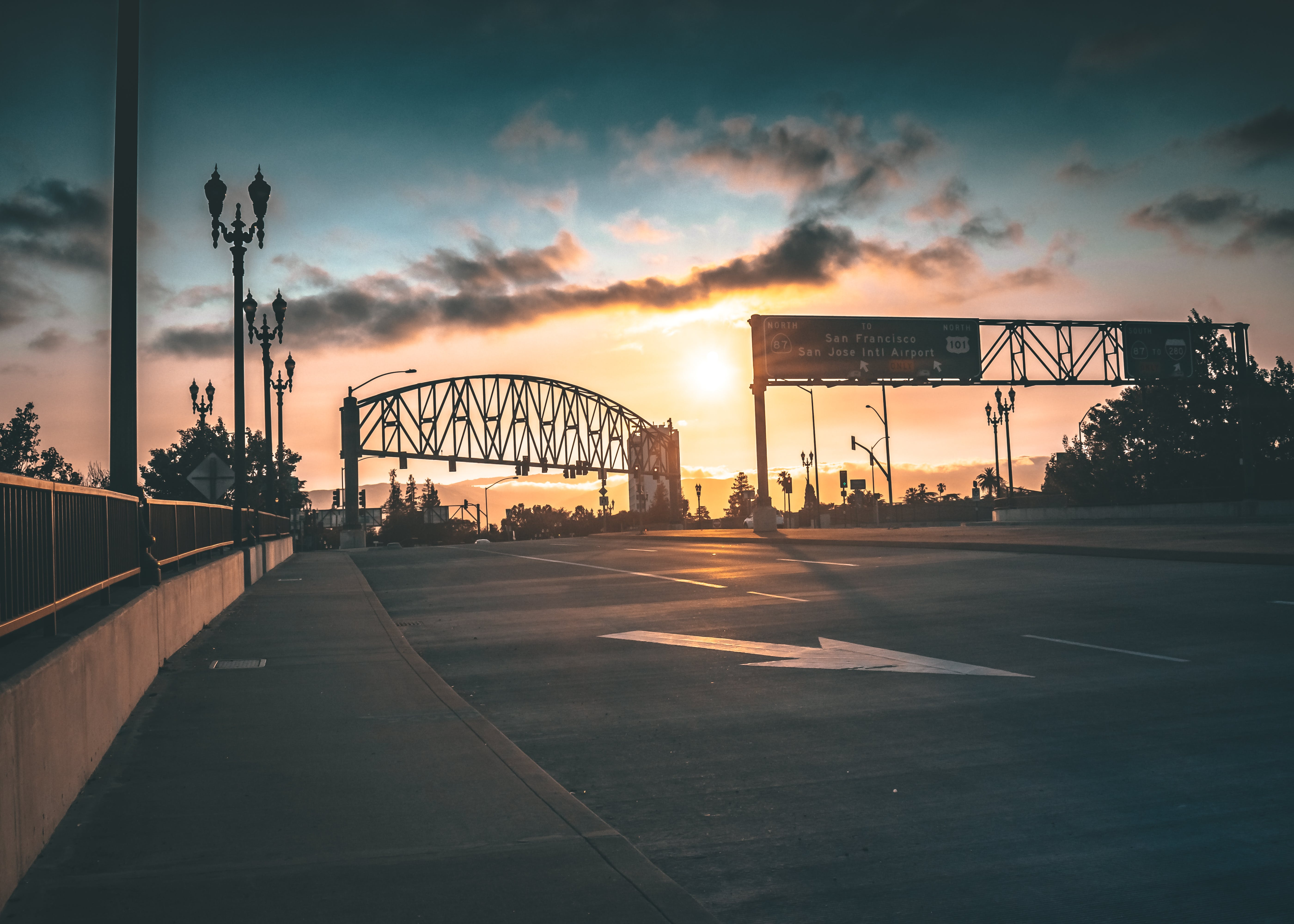 Low Light Photography of Gray Steel Arch