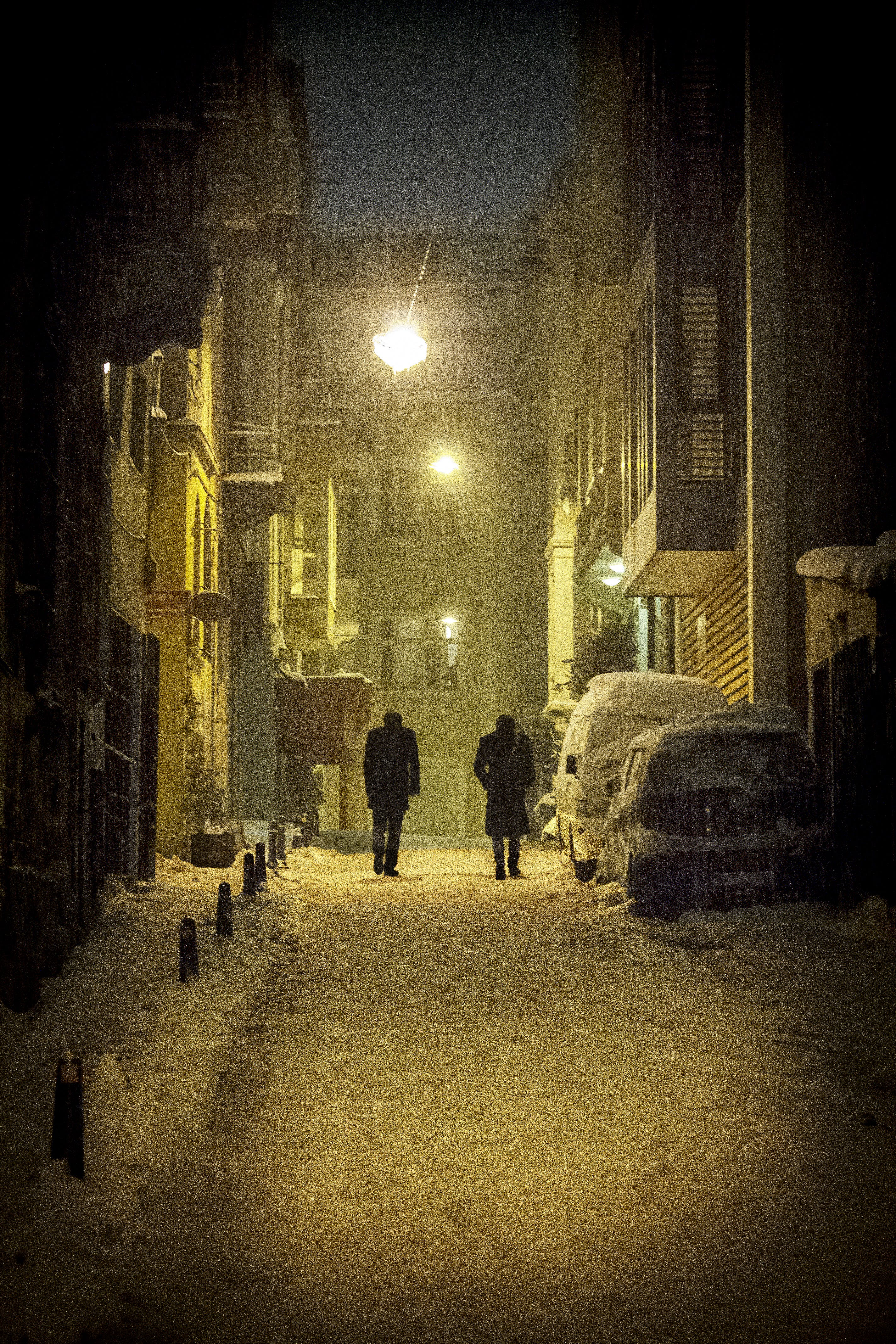 Free stock photo of snow, winter, Istanbul, galata