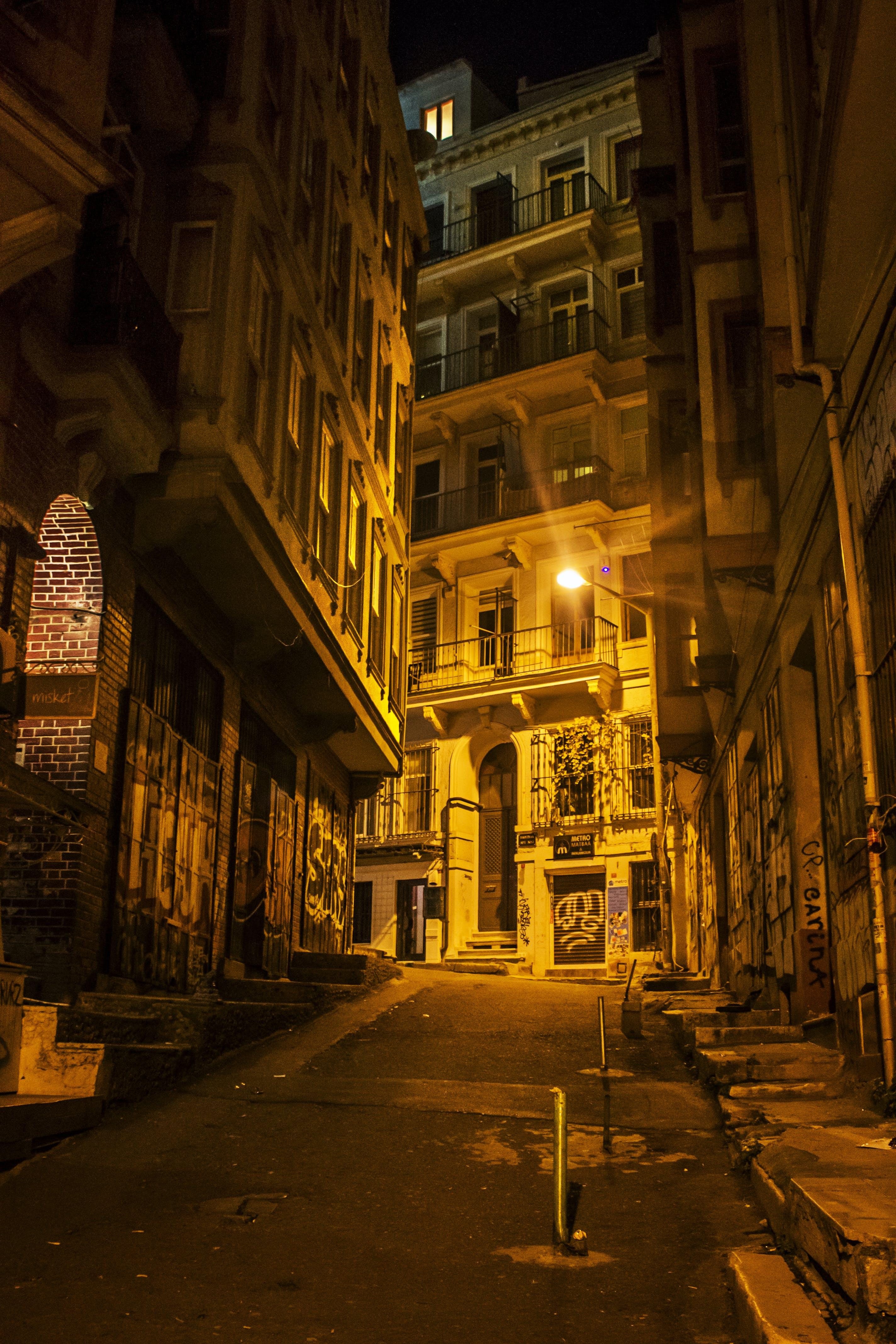 Free stock photo of beyoglu, galata, gece, Istanbul