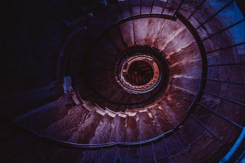 Brown spiral Staircase