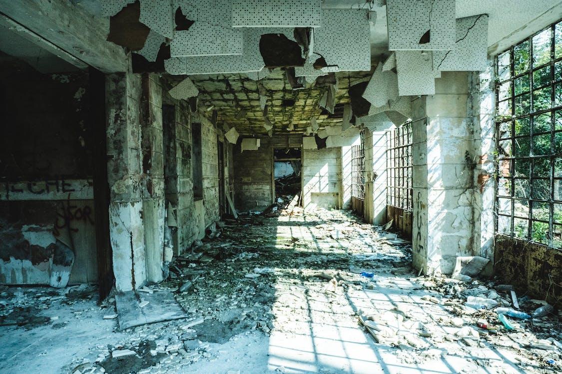 abandonat, arhitectură, calamitate