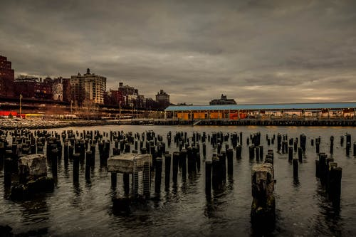 Бесплатное стоковое фото с бруклин, закат, ночная фотосъемка, ночной город