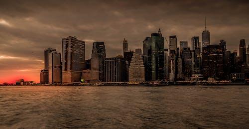 Gratis stockfoto met amerika, architectuur, avond, binnenstad