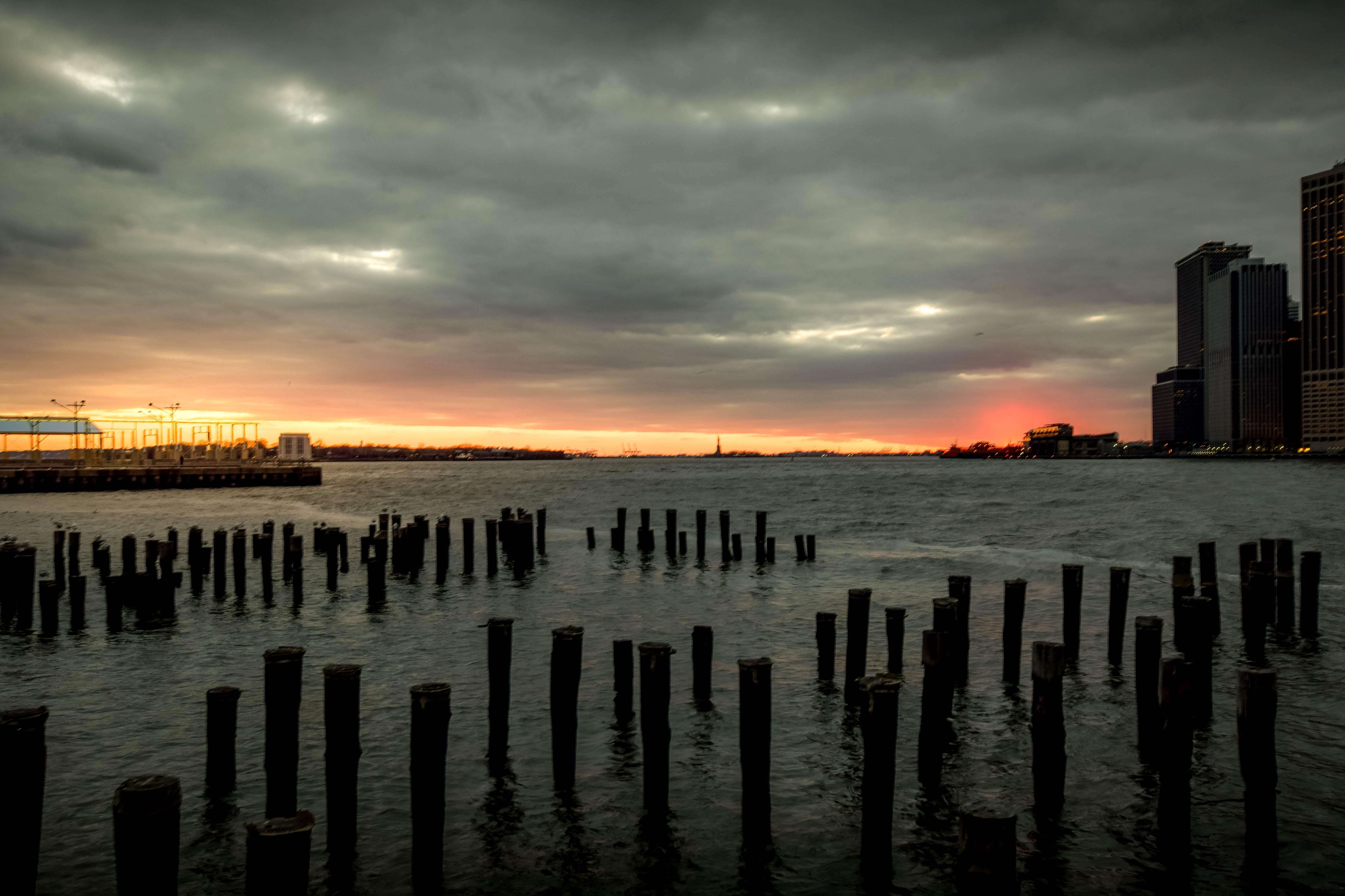 Free stock photo of sunset, new york, seascape, brooklyn