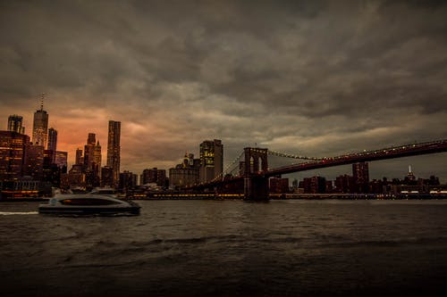 Gratis stockfoto met Brooklyn, city scape, cloudscape, nachtstad