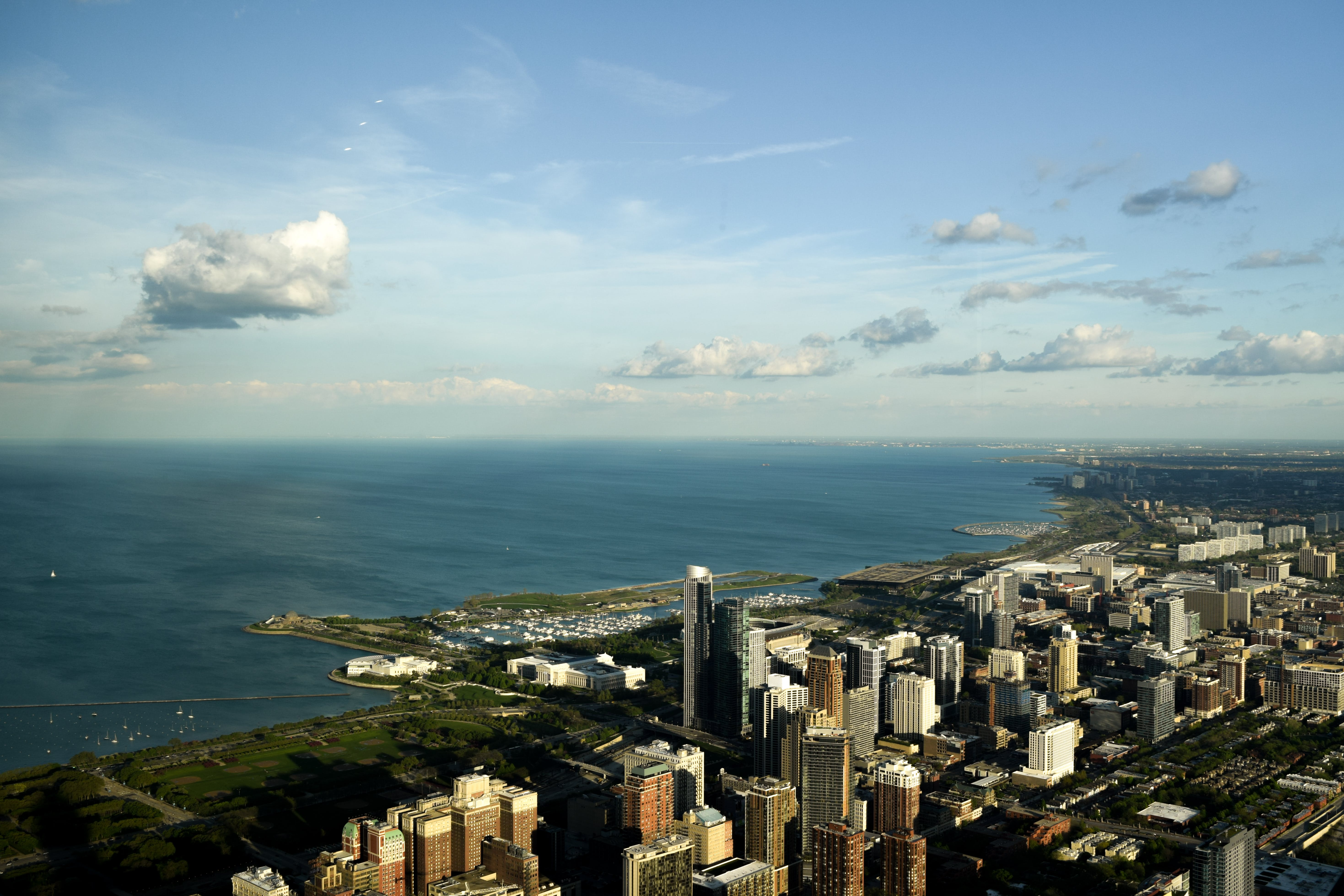 Free stock photo of city, chicago, big city, from above