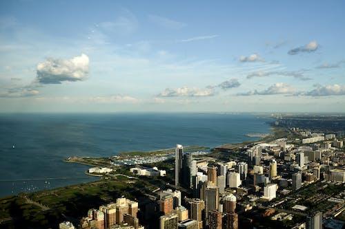 คลังภาพถ่ายฟรี ของ จากข้างบน, ชิคาโก, ตึกสูงในเมือง, เมือง