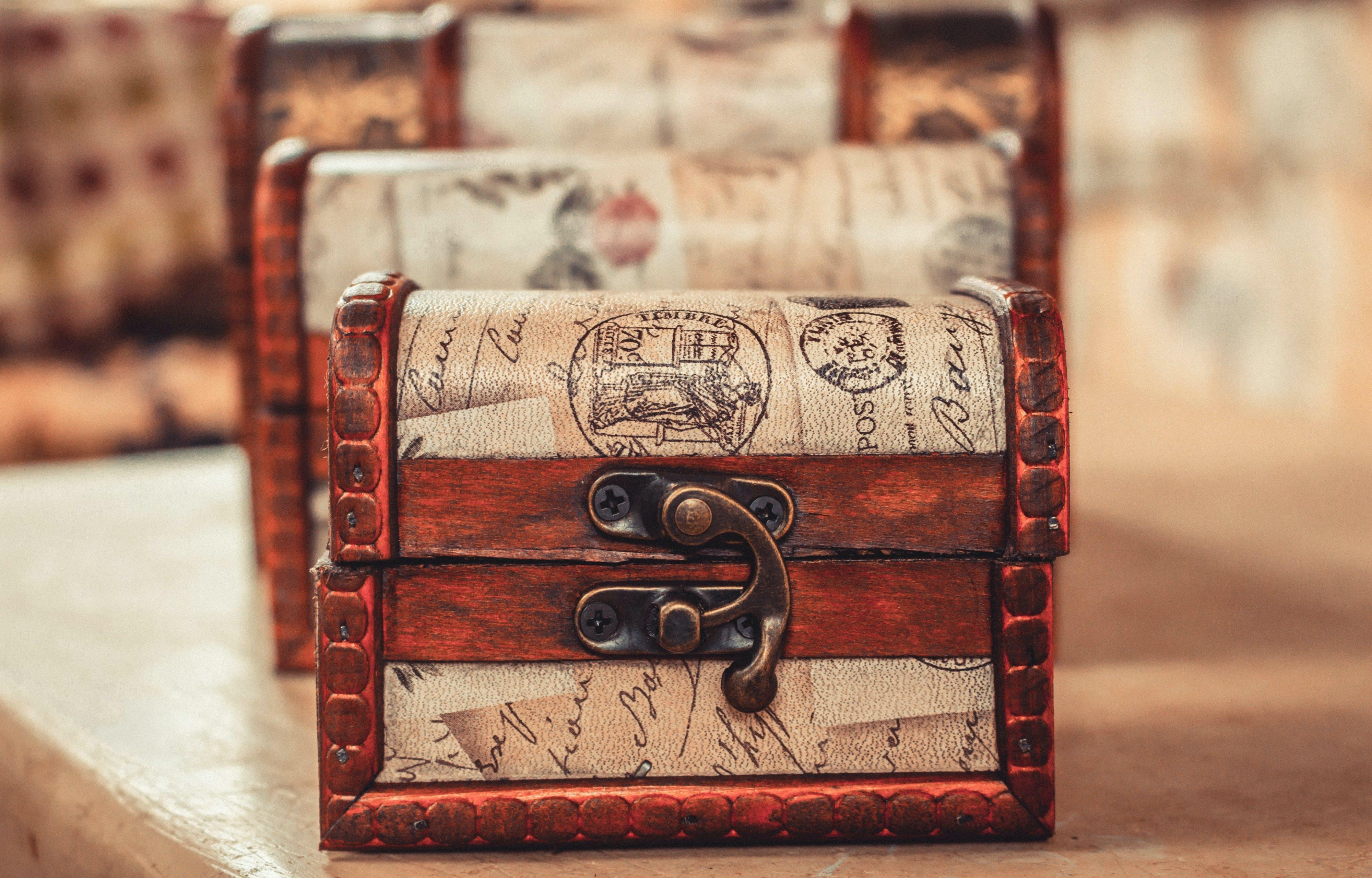 Ingyenes stockfotó antik, beltéri, design, dobozok témában