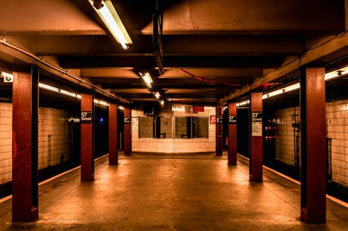 Photo of Empty Subway Station