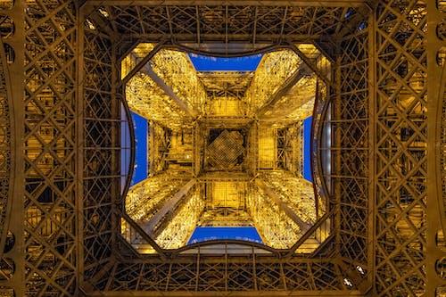 Free stock photo of eiffel tower, geometric pattern, night