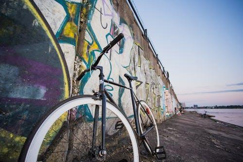 White and Black Road Bike