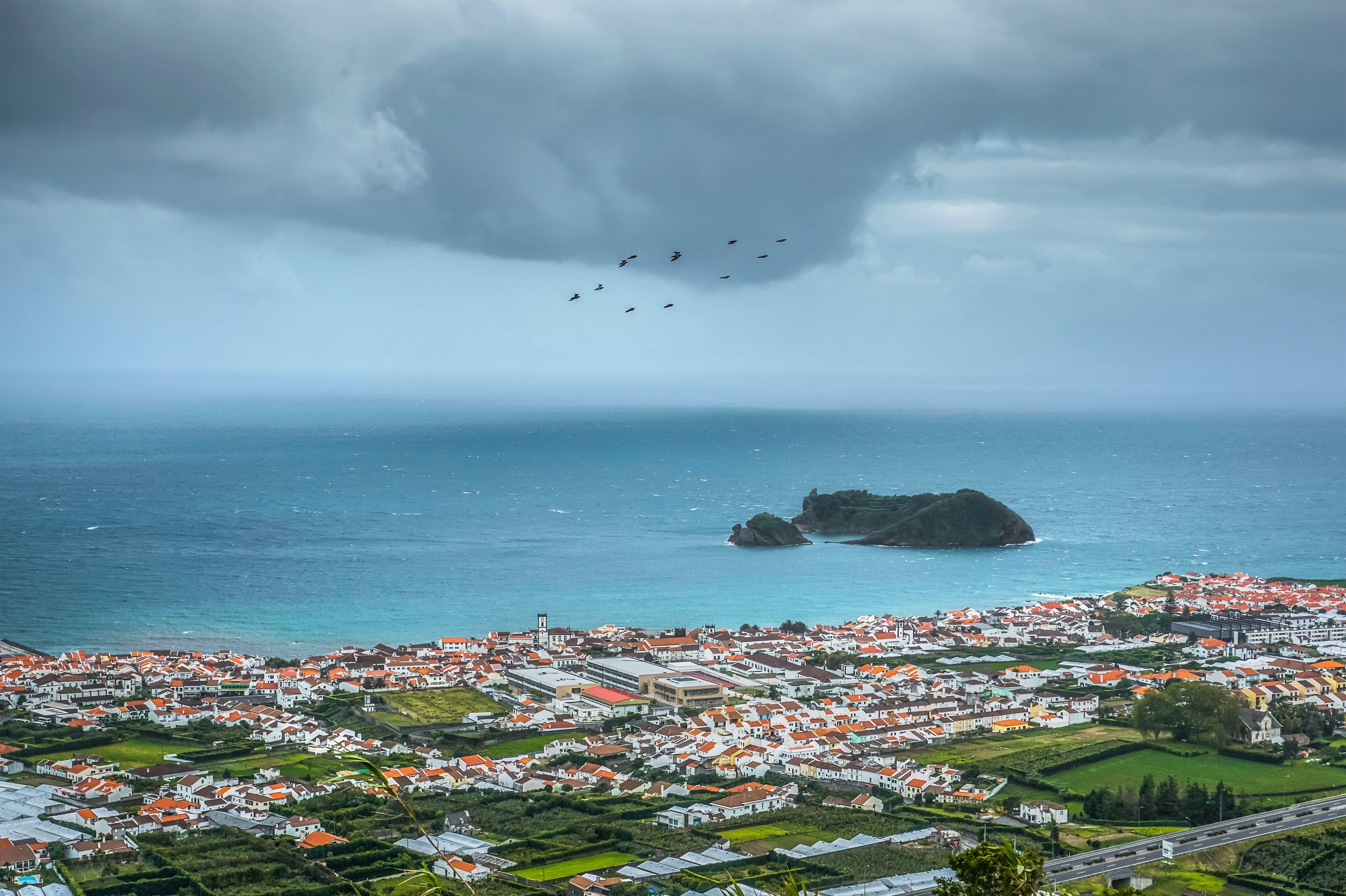 Azores, cityscape, coast
