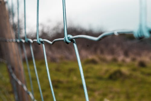 woven wire fence closeup