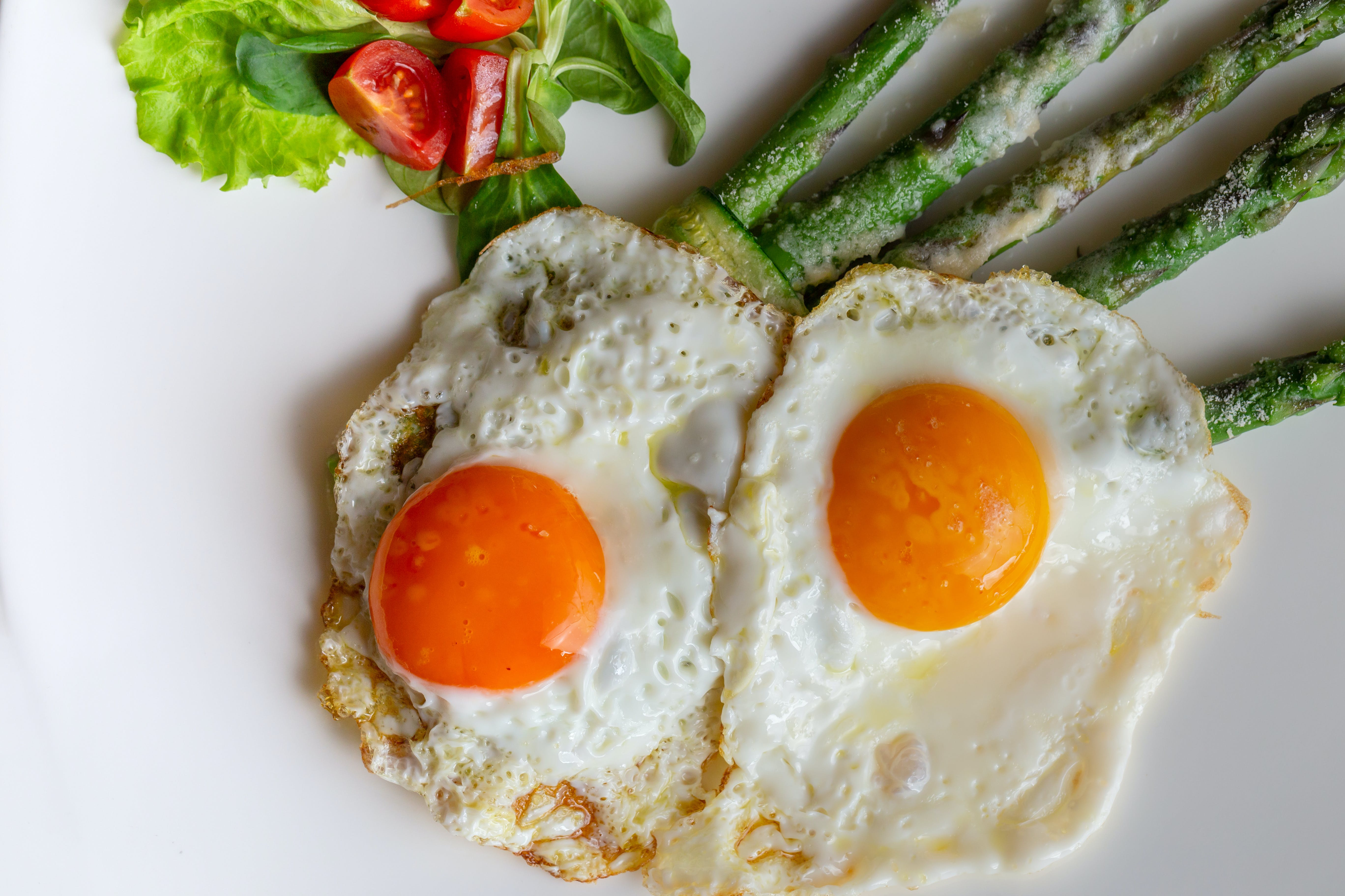 Free stock photo of asparagus, cooking, eggs, food