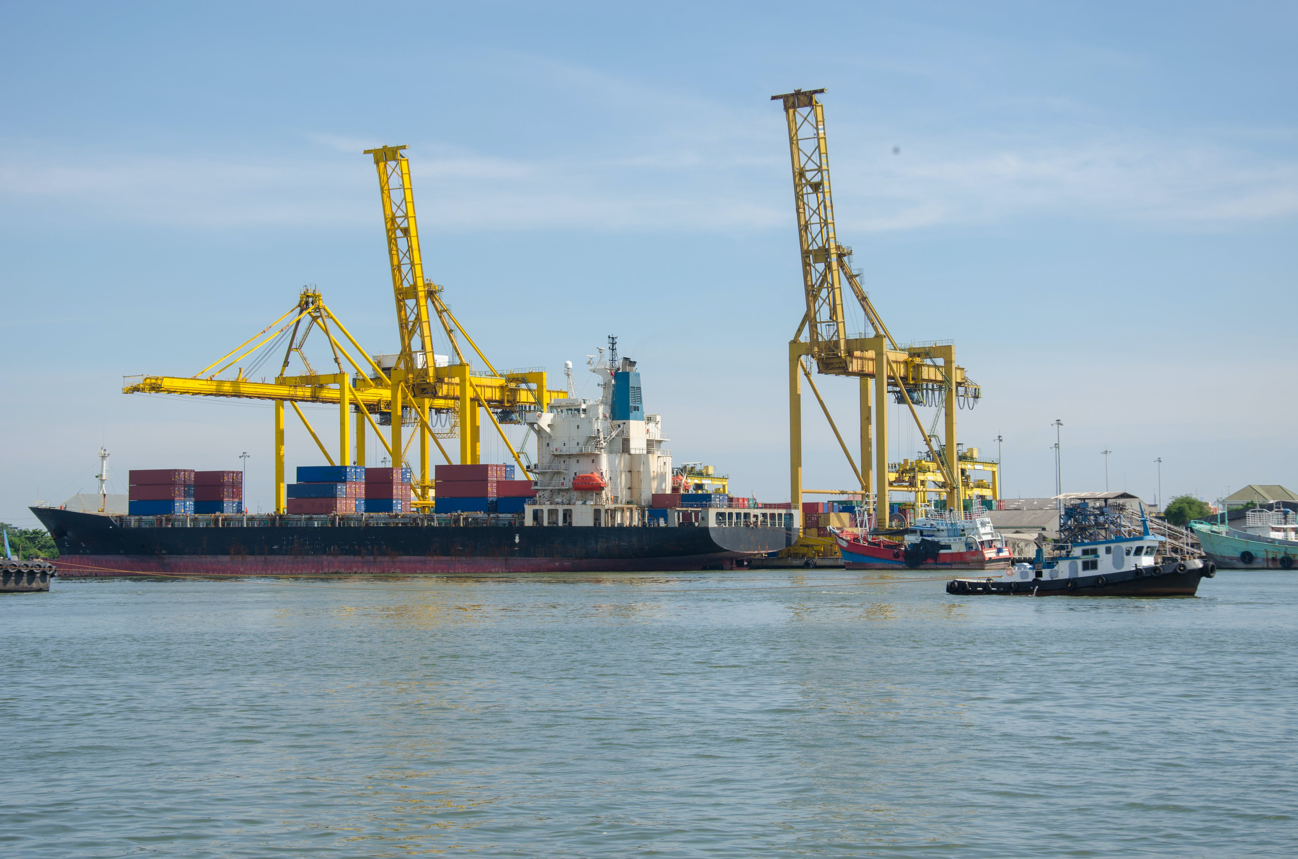 Ship With Container Vans
