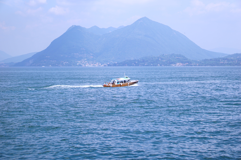 Free stock photo of blue, blue water, boat, HD wallpaper