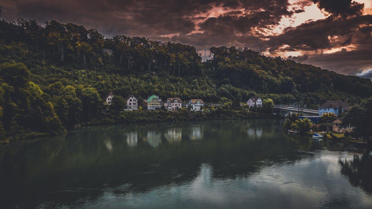 cestovní ruch, domy, hora