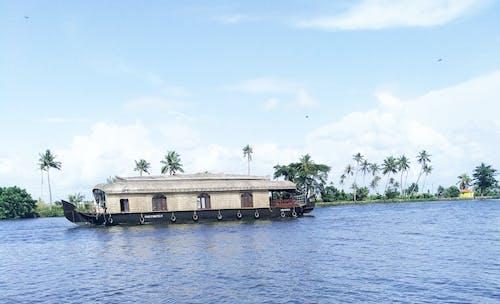 Imagine de stoc gratuită din barcă, casa pe barca, mare, natură
