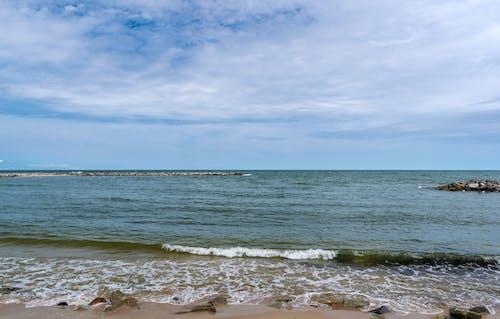 Free stock photo of Baltic Sea, beach, blue, clouds