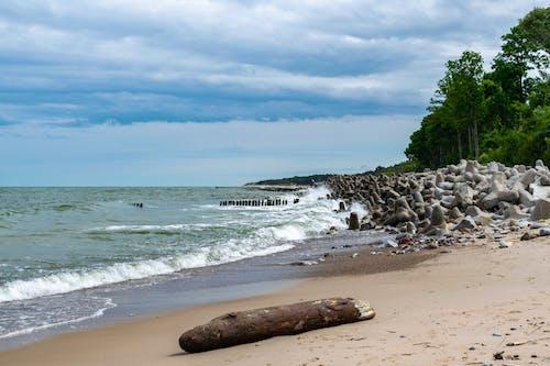 Free stock photo of Baltic Sea, beach, blue Clouds, blue sky