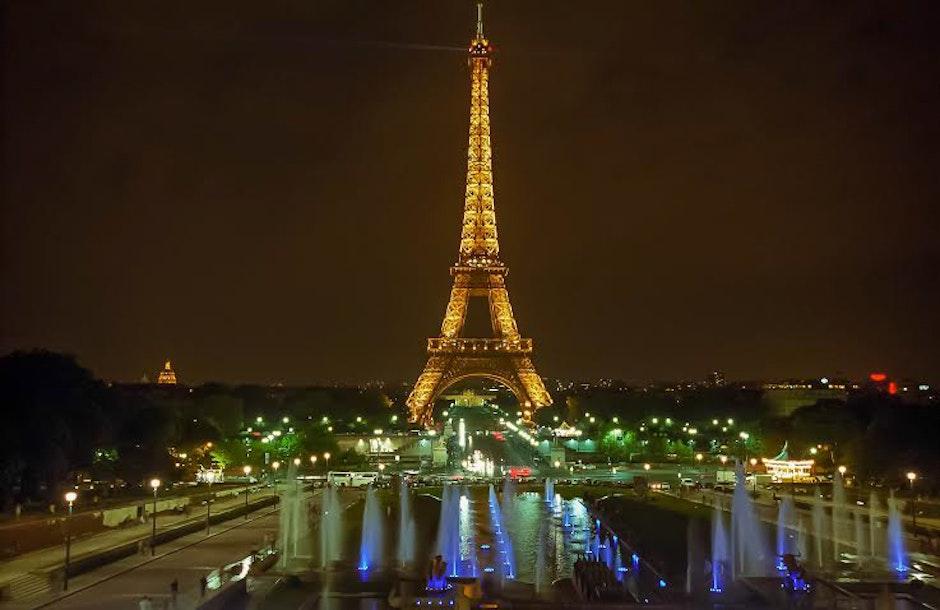 Eiffel Tower during Night