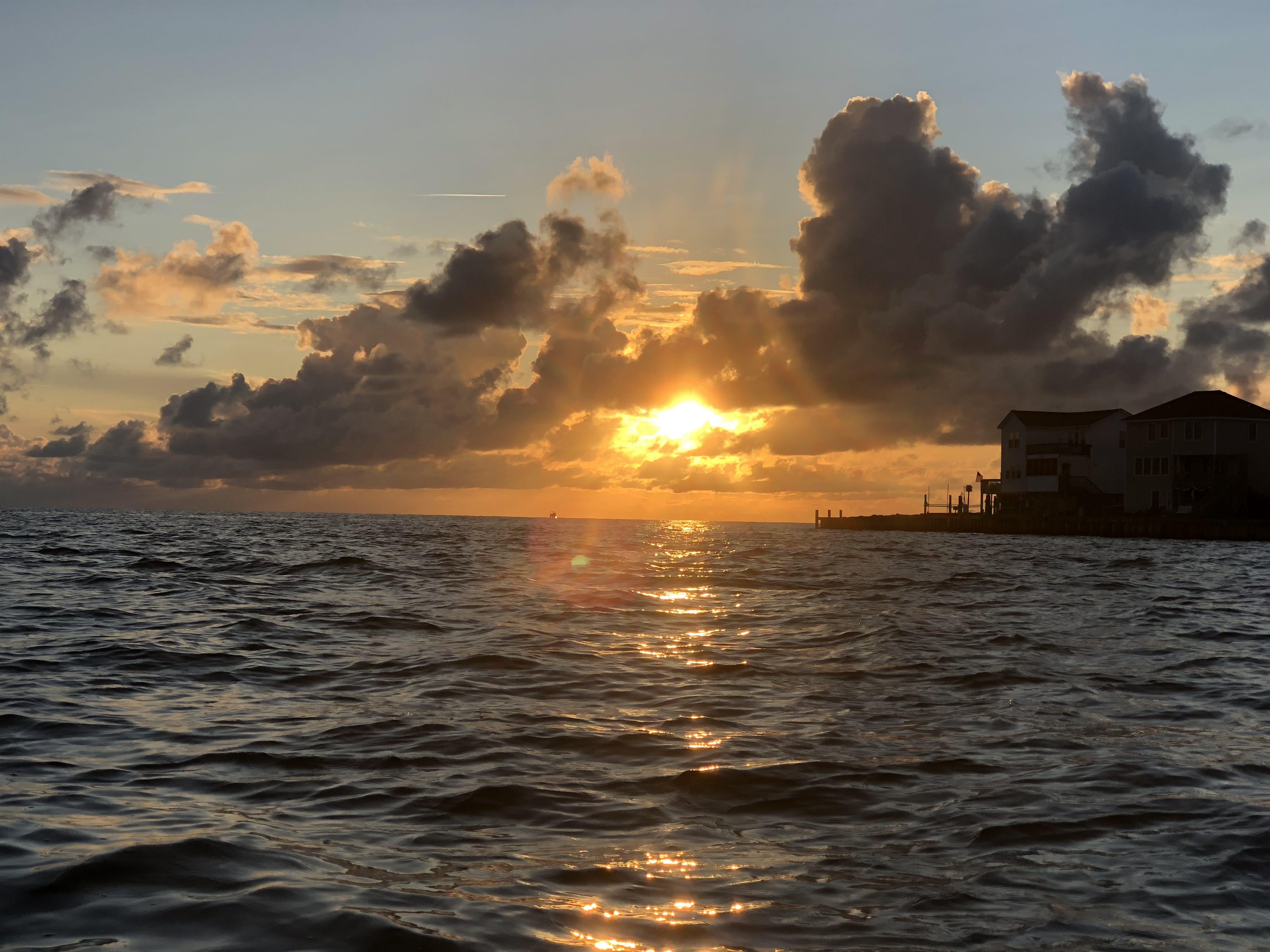 Free stock photo of ray of sunshine, evening sun, golden sunset, Water view