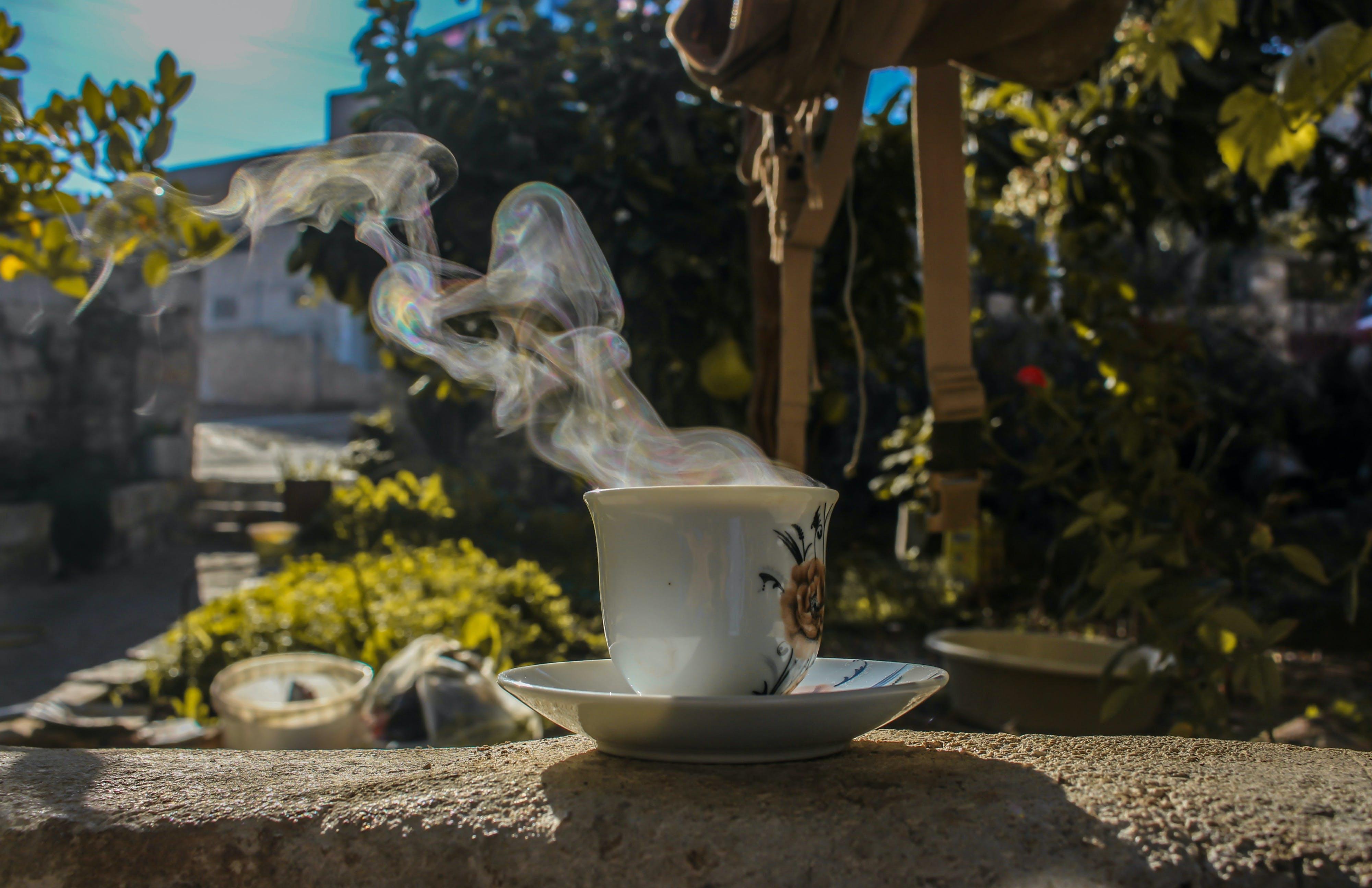Imagine de stoc gratuită din abur, atrăgător, cafea, cană