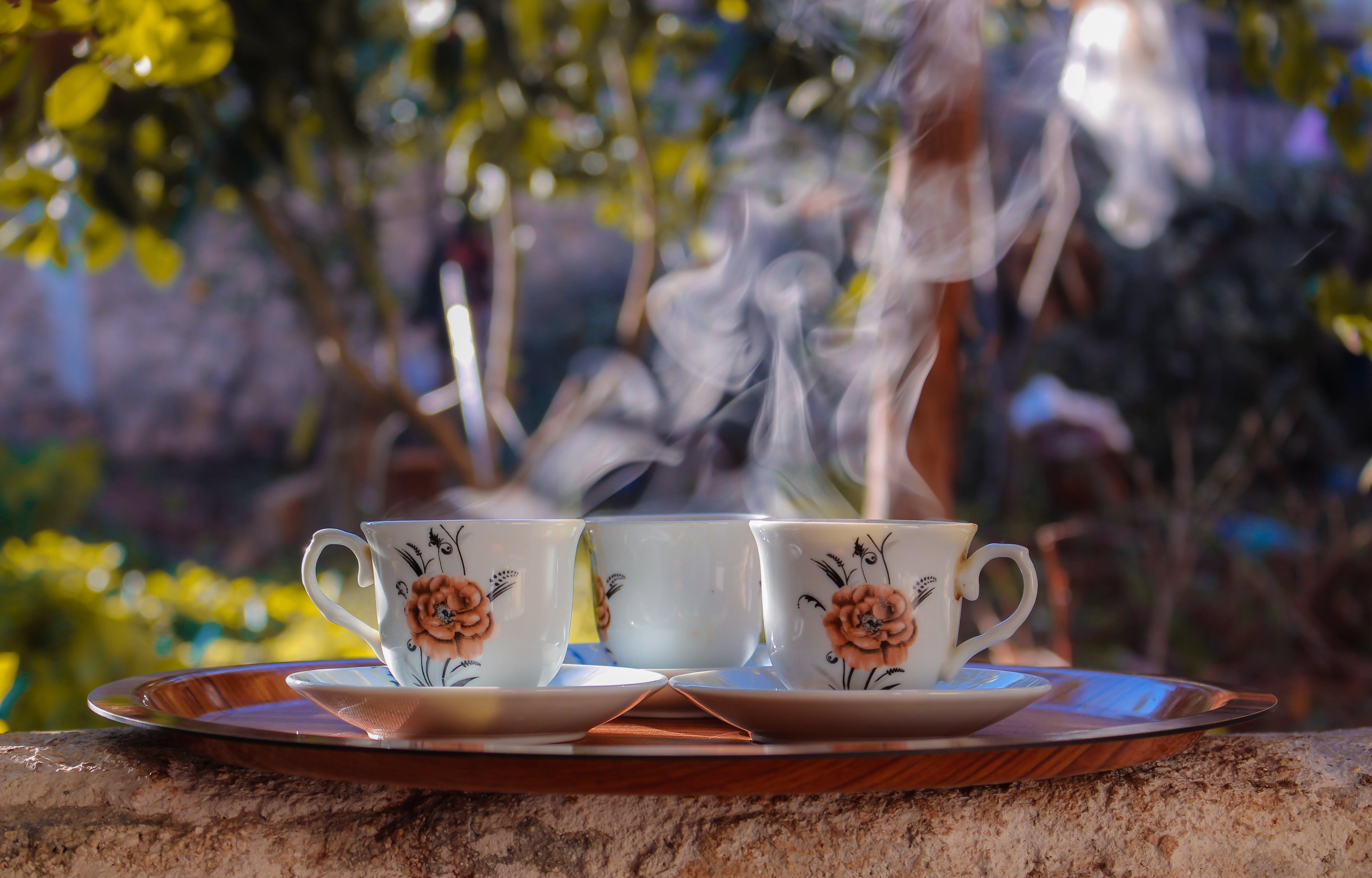 Gratis arkivbilde med brett, damp, drinker, kaffe