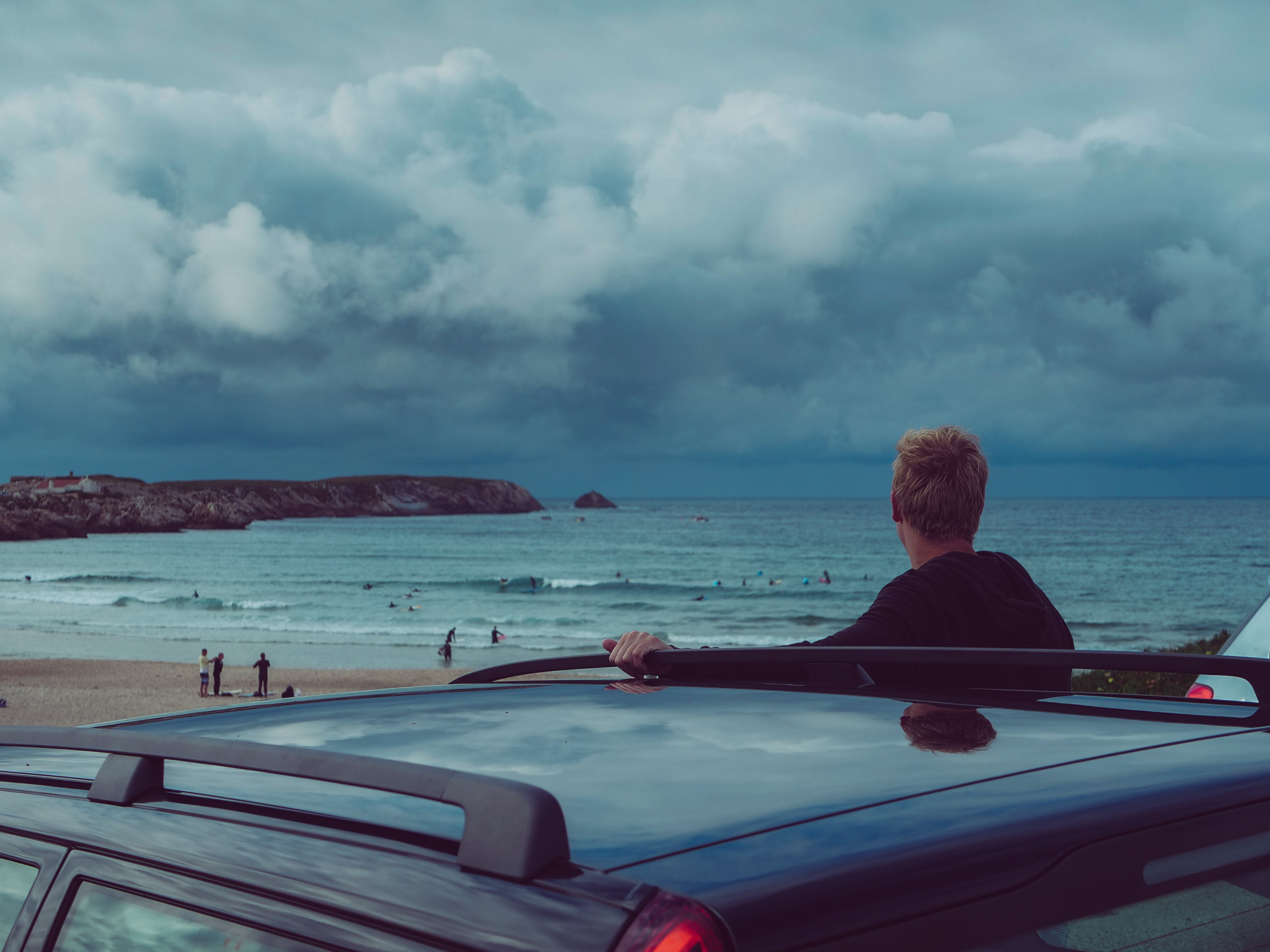 Man Looking At The Beach