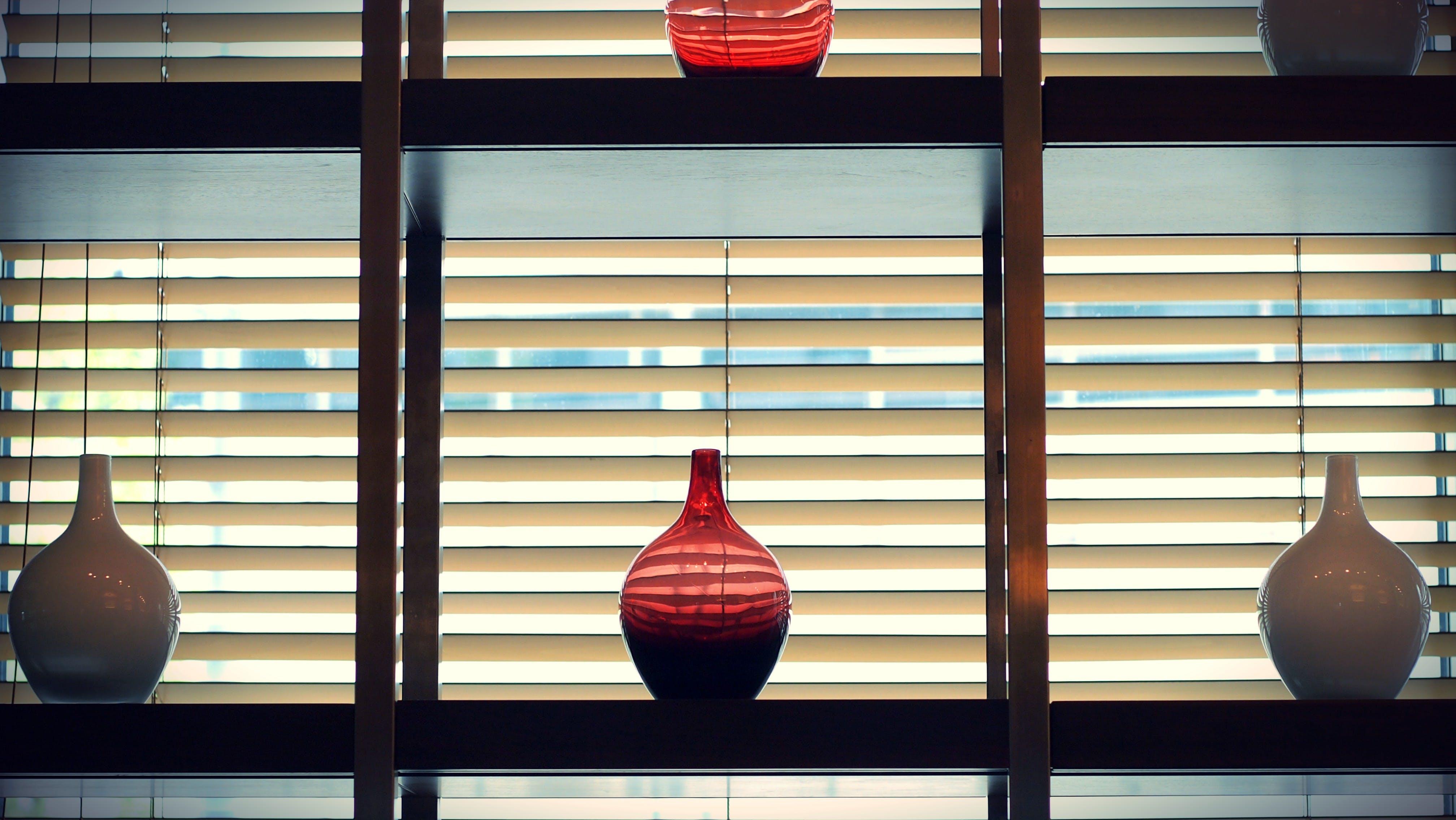 ガラス瓶, ブラインド, ボトル, 窓のブラインドの無料の写真素材
