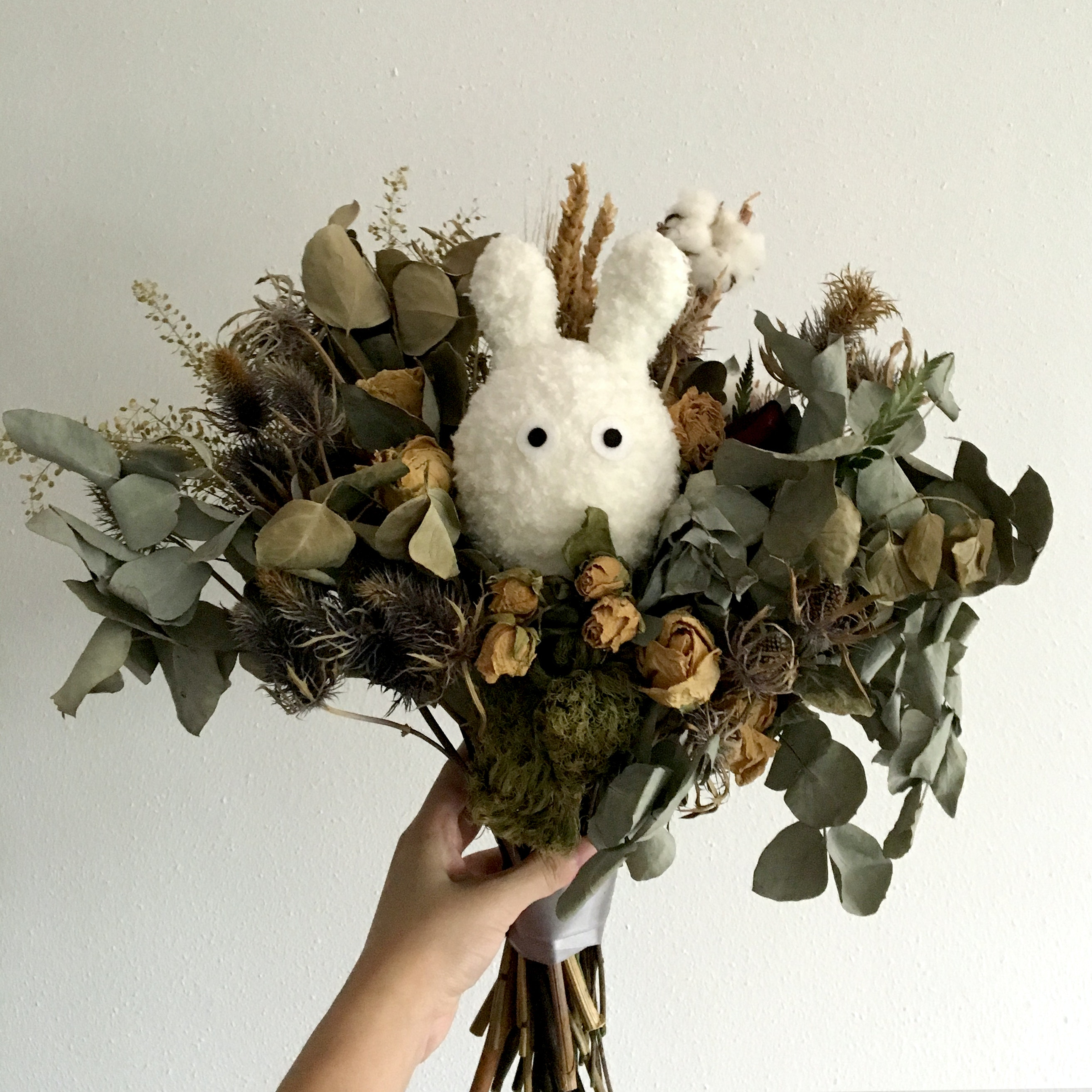 Dried Flower Bouquet Free Stock Photo