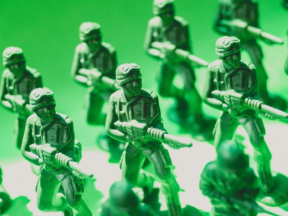 Toy Soldiers Macro Photo