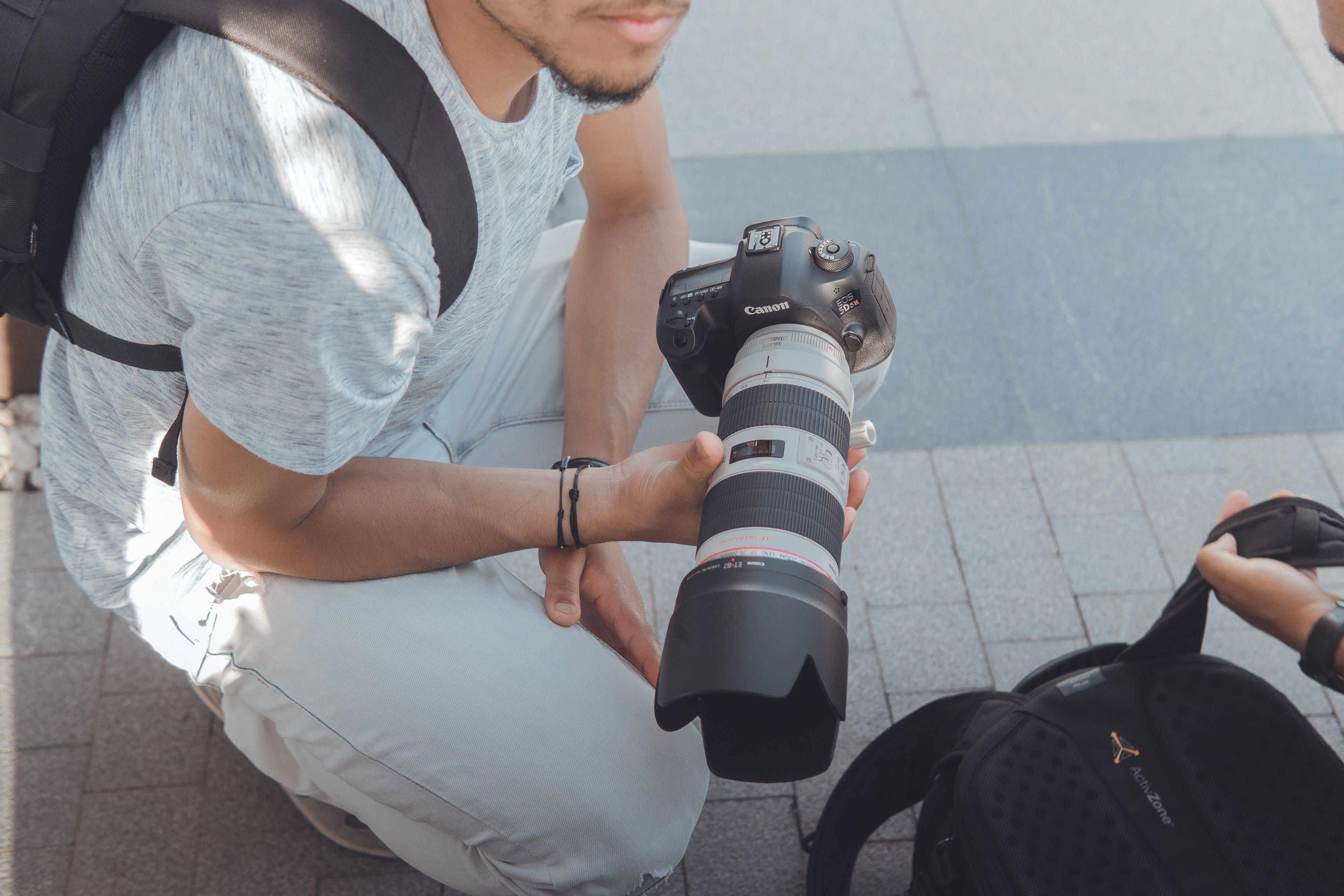 Kostenloses Stock Foto zu 200mm, armband, bereit, canon