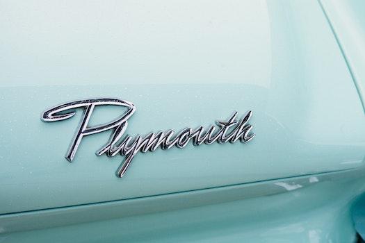 Plymouth White Vintage Automobile