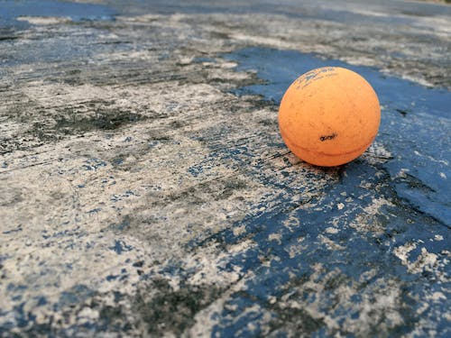 Free stock photo of ball, blue, cement