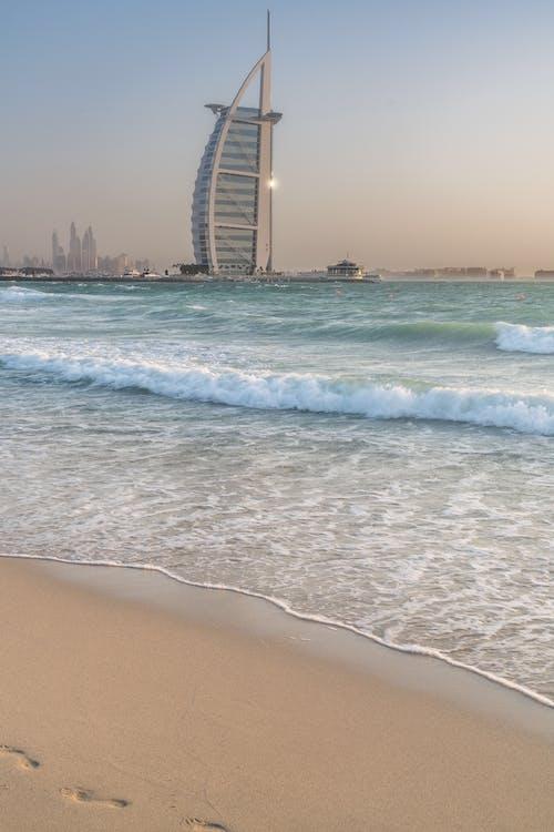 Photos gratuites de burj al arab, dubaï, plage, vacances