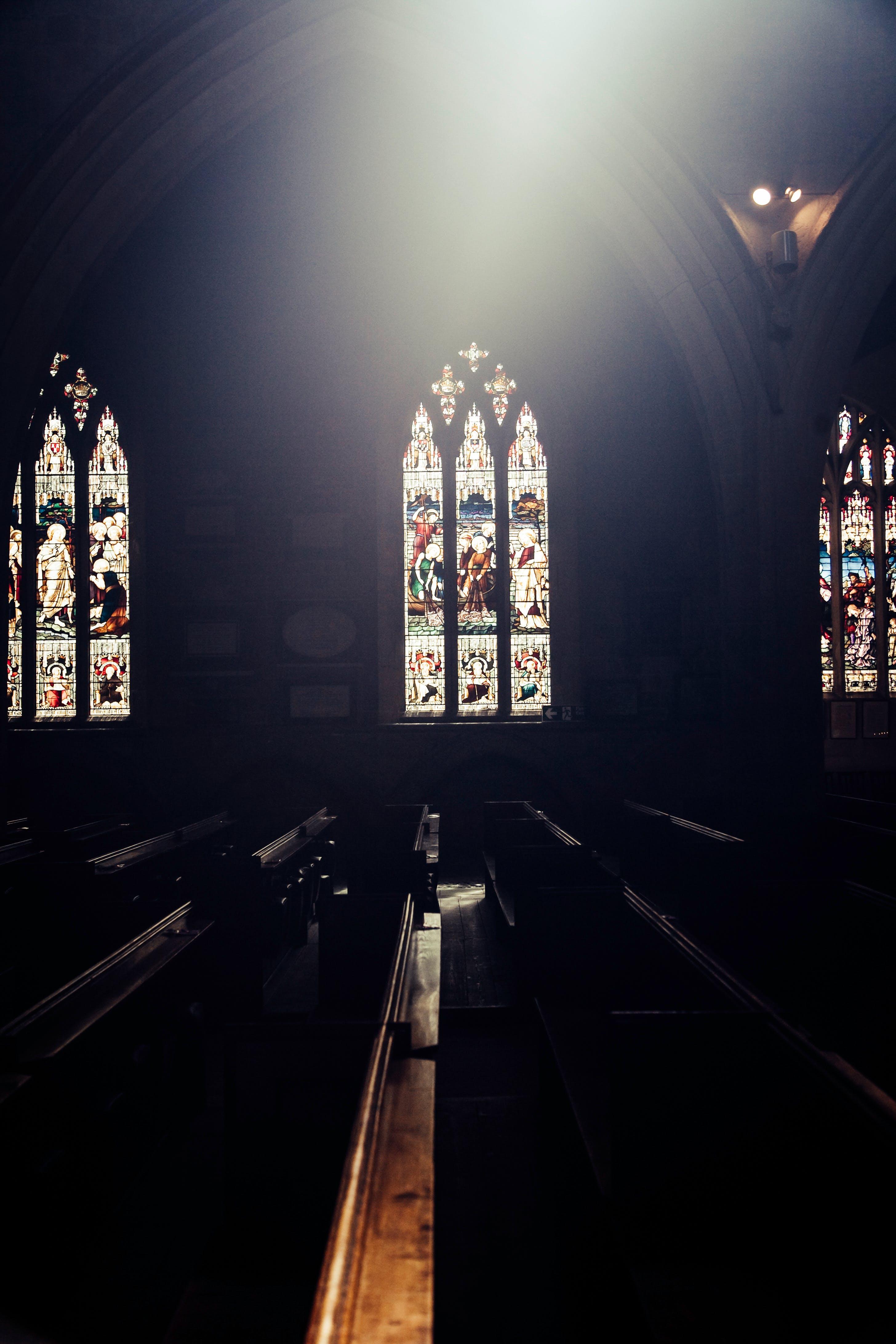 Free stock photo of church, glass panes, windows