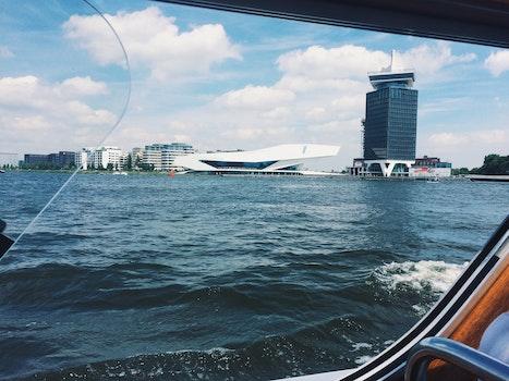 Free stock photo of sea, skyline, building, harbor