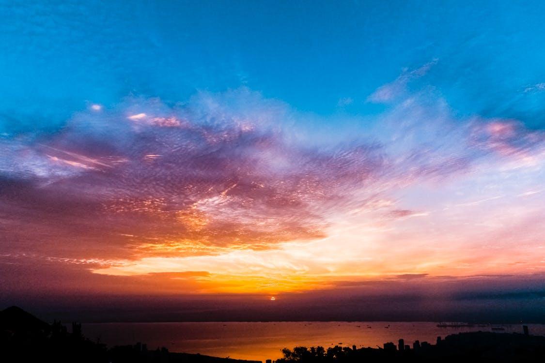 bulutlar, deniz, doğa