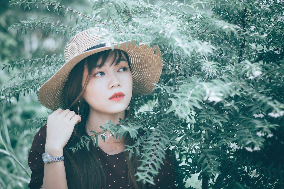 かわいらしい, アジアの女性, アジア人の女の子