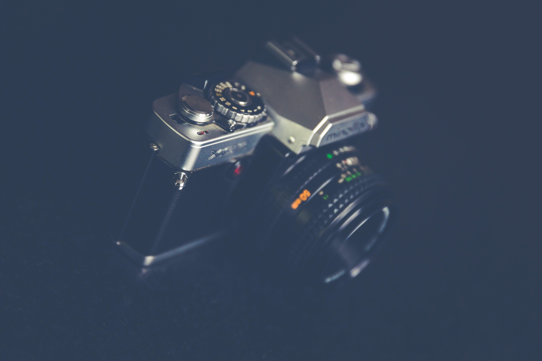 Black and Grey Mirror Less Camera