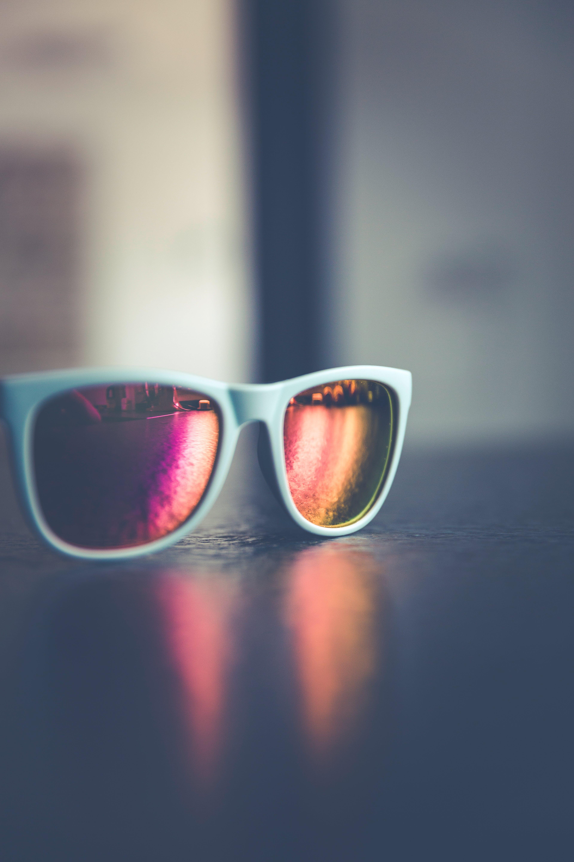 White Framed Wayfarer Sunglasses