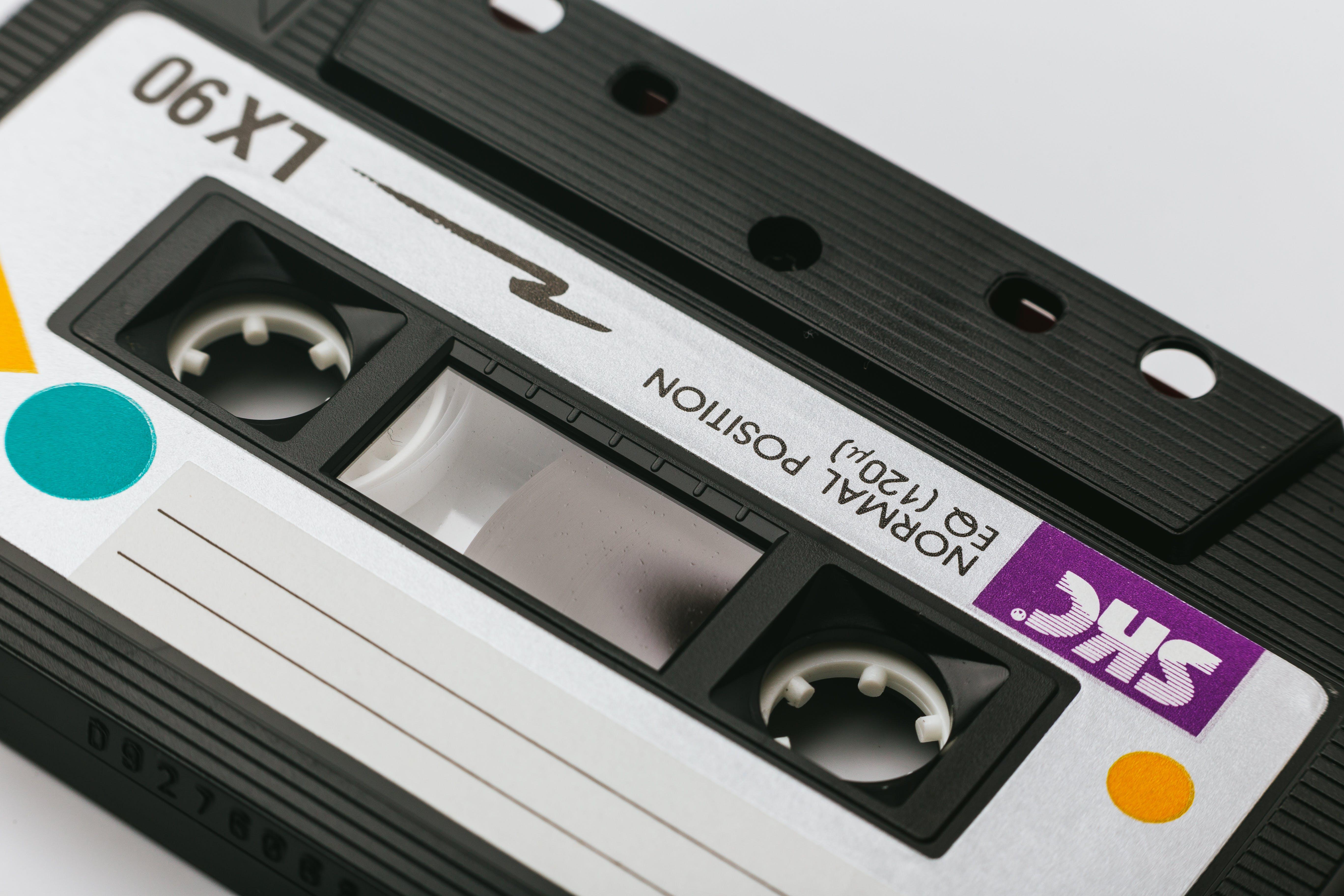 Skc Cassette Tape on White Surface