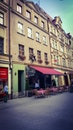 road, restaurant, people