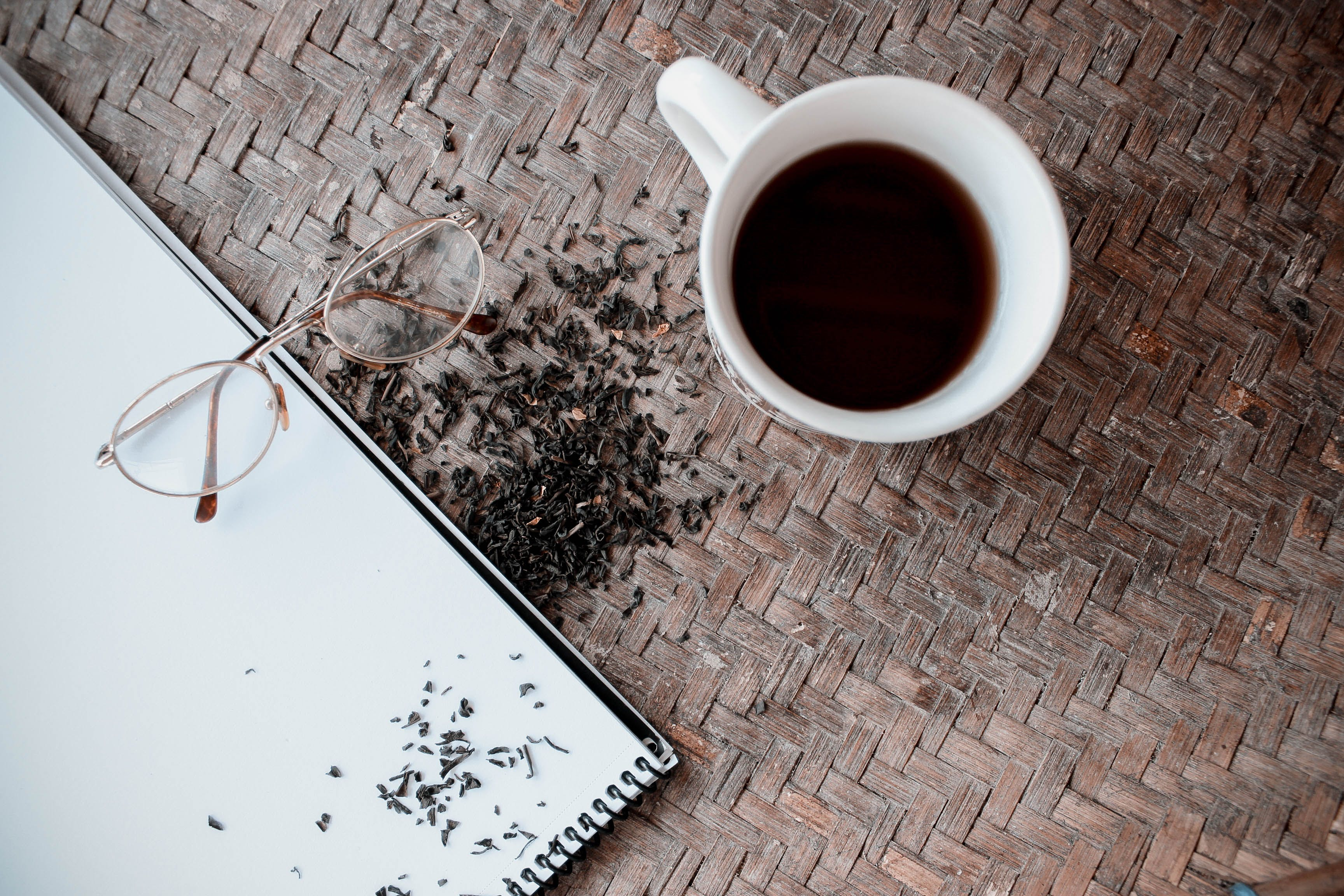 Free stock photo of coffee, dried tea, drinks, eye glasses