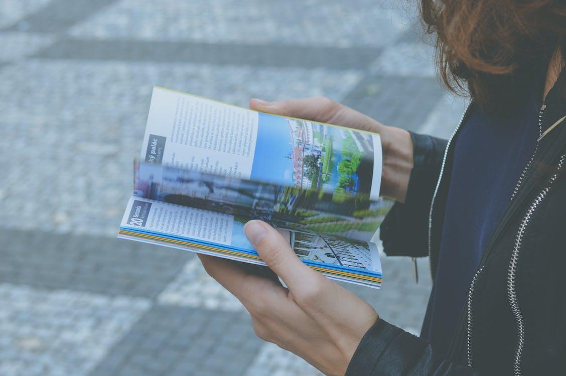 individu, lire, mains