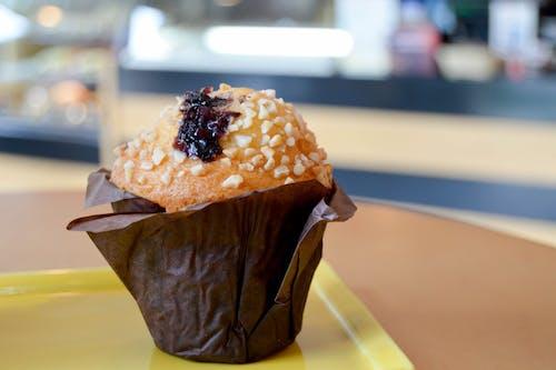 Free stock photo of blueberry muffins, cupcake, muffin